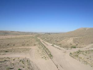 Rails south of Rio Bravo Tijeras Arroyo looking west