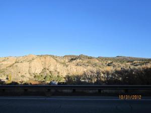 Center Barranca Hill grade north of Embudo from SR68