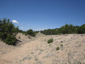 Grade to Buckman looking NW near La Tierra
